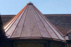 Tunbridge wells - Natural copper Roofing