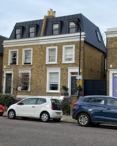 Hackney we did the zinc cladding and flat roofing work